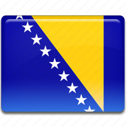 bosnian, flag icon