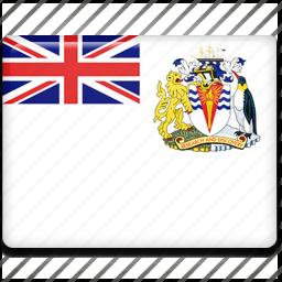 antarctic, british, territory icon