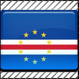 cape, flag, verde icon