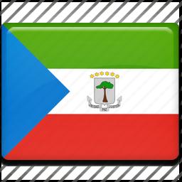 equatorial, flag, guinea icon