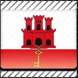 flag, gibraltar icon