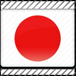 flag, japan icon