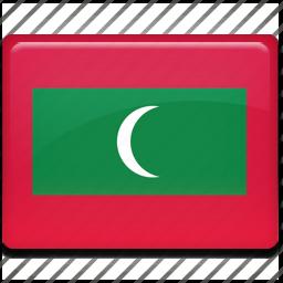 flag, maldives icon