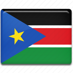 flag, south, sudan icon