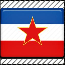 flag, yugoslavia icon