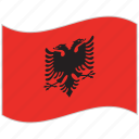 albania, albania flag, flag, national flag, waving flag, world flag icon