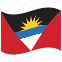 antigua and barbuda, antigua and barbuda flag, flag, national flag, waving flag, world flag icon