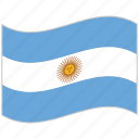argentina, argentina flag, flag, national flag, waving flag, world flag icon