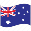 australia, australia flag, flag, national flag, waving flag, world flag icon