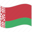 belarus, belarus flag, flag, national flag, waving flag, world flag icon