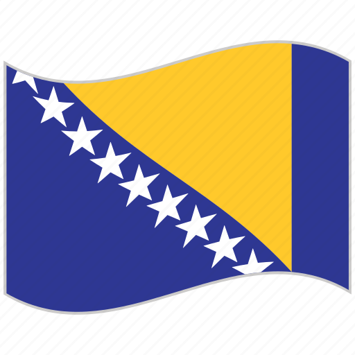 bosnia and herzegovina, bosnia and herzegovina flag, flag, national flag, waving flag, world flag icon