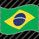 brazil, brazil flag, flag, national flag, waving flag, world flag