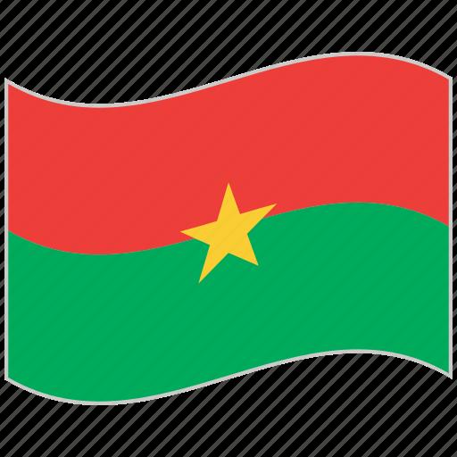 burkina faso, burkina faso flag, flag, national flag, waving flag, world flag icon