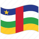 central african republic, central african republic flag, flag, national flag, waving flag, world flag icon