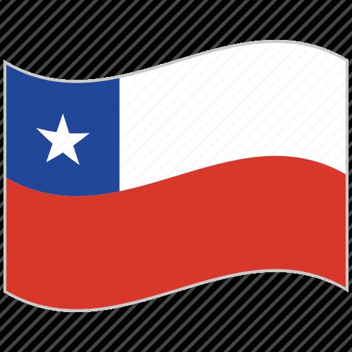 chile, chile flag, flag, national flag, waving flag, world flag icon