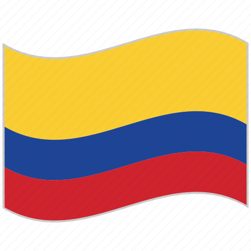 colombia, colombia flag, flag, national flag, waving flag, world flag icon