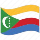 comoros, comoros flag, flag, national flag, waving flag, world flag icon