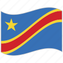 congo, congo flag, flag, national flag, waving flag, world flag