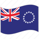 cook islands, cook islands flag, flag, national flag, waving flag, world flag icon