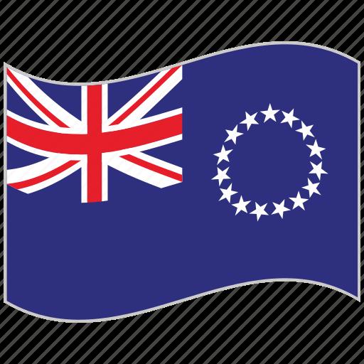 cook islands, cook islands flag, flag, national flag, waving flag, world flag icon