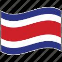 costa rica, costa rica flag, flag, national flag, waving flag, world flag