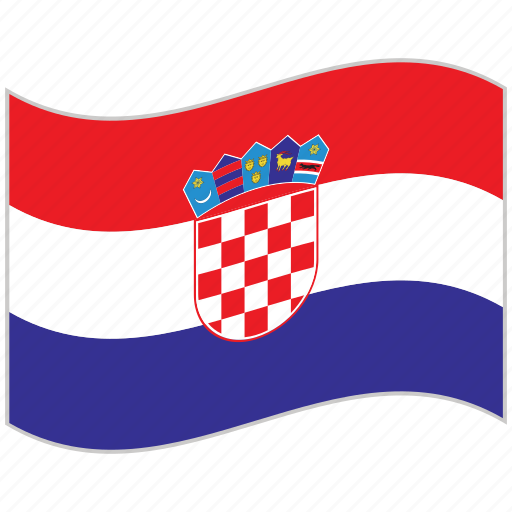 croatia, croatia flag, flag, national flag, waving flag, world flag icon