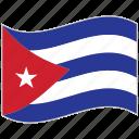 cuba, cuba flag, flag, national flag, waving flag, world flag