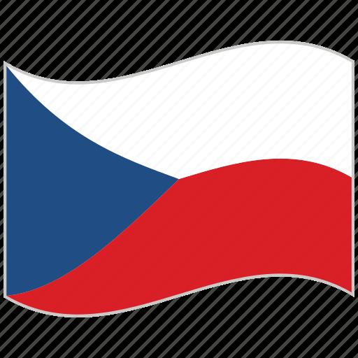czech republic, czech republic flag, flag, national flag, waving flag, world flag icon