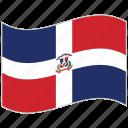 dominican republic, dominican republic flag, flag, national flag, waving flag, world flag icon