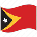 east timor, east timor flag, flag, national flag, waving flag, world flag icon