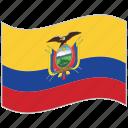 ecuador, ecuador flag, flag, national flag, waving flag, world flag