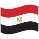 egypt, egypt flag, flag, national flag, waving flag, world flag icon