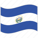 el salvador, el salvador flag, flag, national flag, waving flag, world flag icon