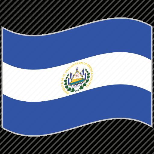 El salvador, el salvador flag, flag, national flag, waving flag, world flag icon - Download on Iconfinder