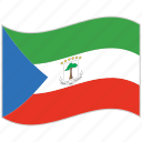 equatorial guinea, equatorial guinea flag, flag, national flag, waving flag, world flag icon