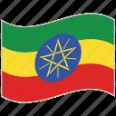 ethiopia, ethiopia flag, flag, national flag, waving flag, world flag icon