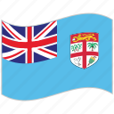 fiji, fiji flag, flag, national flag, waving flag, world flag icon