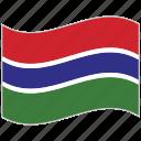 flag, gambia, gambia flag, national flag, waving flag, world flag