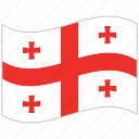 flag, georgia, georgia flag, national flag, waving flag, world flag icon
