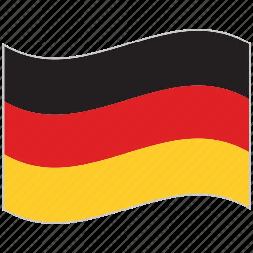 flag, germany, germany flag, national flag, waving flag, world flag icon