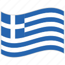 flag, greece, greece flag, national flag, waving flag, world flag icon