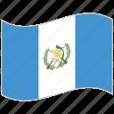 flag, guatemala, guatemala flag, national flag, waving flag, world flag