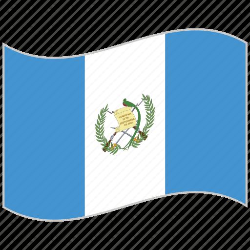 flag, guatemala, guatemala flag, national flag, waving flag, world flag icon