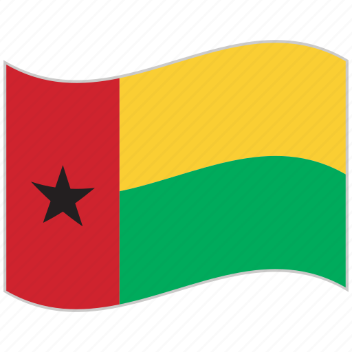 flag, guinea bissau, guinea bissau flag, national flag, waving flag, world flag icon