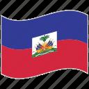 flag, haiti, haiti flag, national flag, waving flag, world flag icon