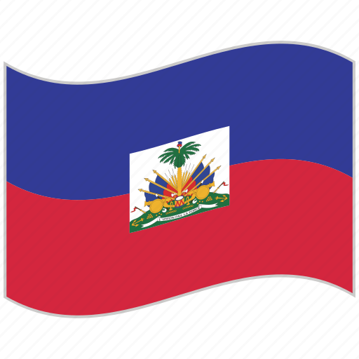 flag, haiti, haiti flag, national flag, waving flag, world flag icon