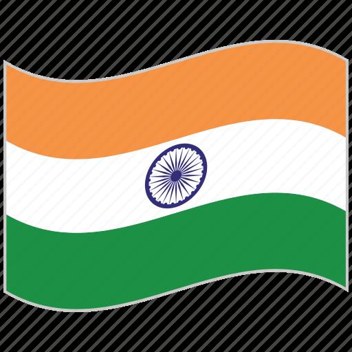 flag, india, india flag, national flag, waving flag, world flag icon