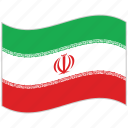 flag, iran, iran flag, national flag, waving flag, world flag icon