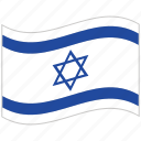 flag, israel, israel flag, national flag, waving flag, world flag icon