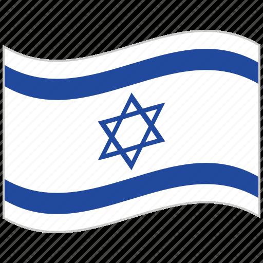 Flag, israel, israel flag, national flag, waving flag, world flag icon - Download on Iconfinder
